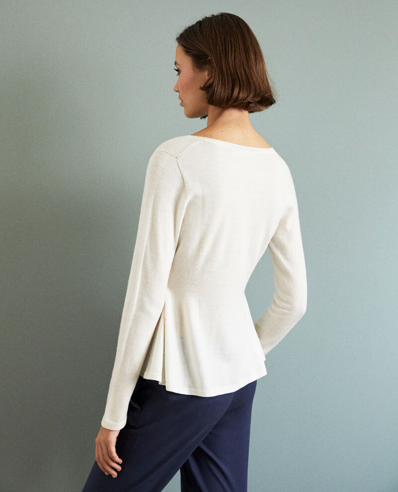 Pullover aus Wolle Off white Icarpan