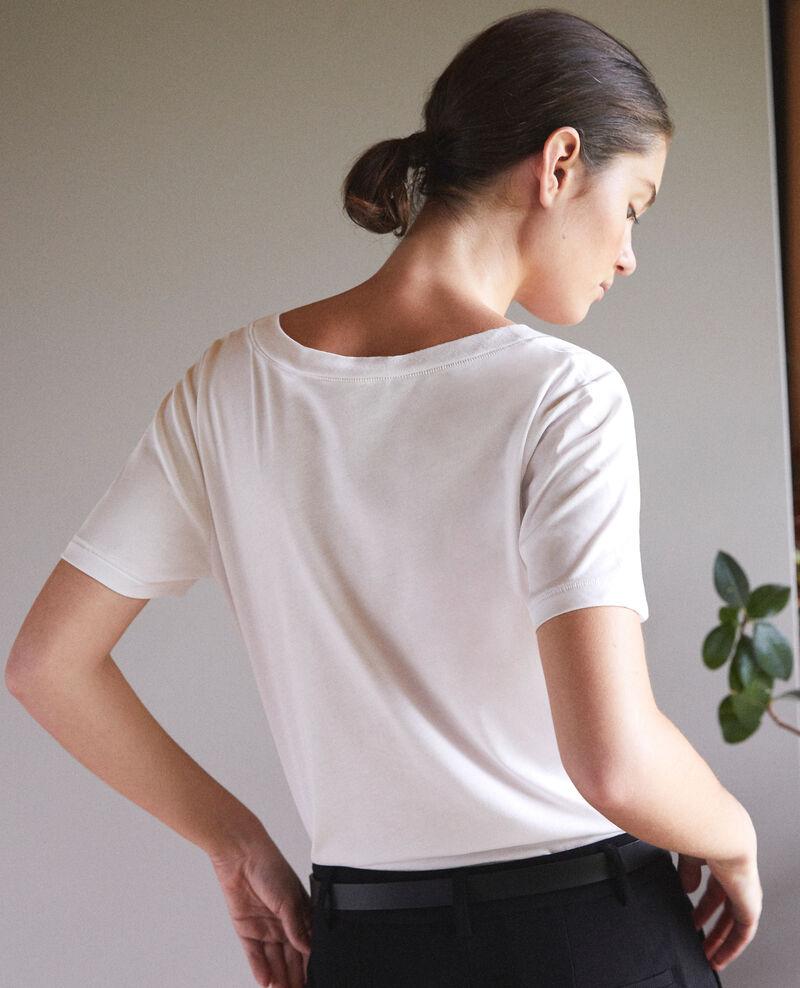 T-Shirt mit Leon-Motiv Weiß Fallen