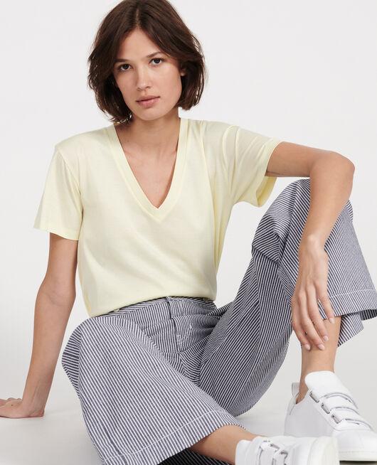 T-Shirt aus ägyptischer Baumwolle TENDER YELLOW