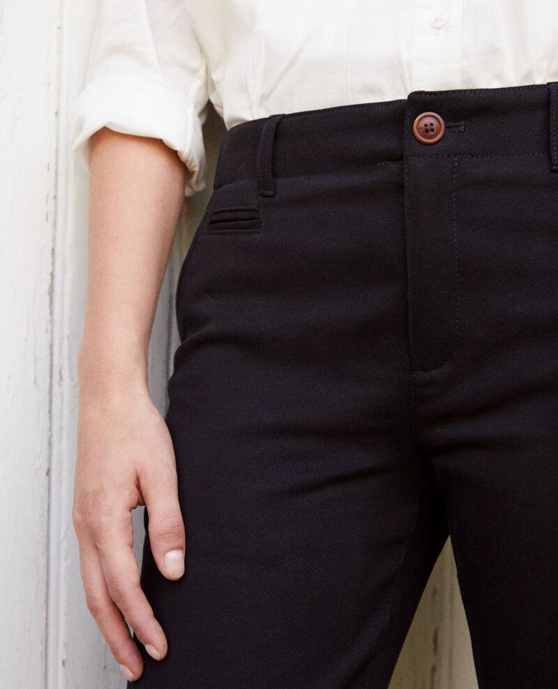 Gerade geschnittene Hose Noir Jino