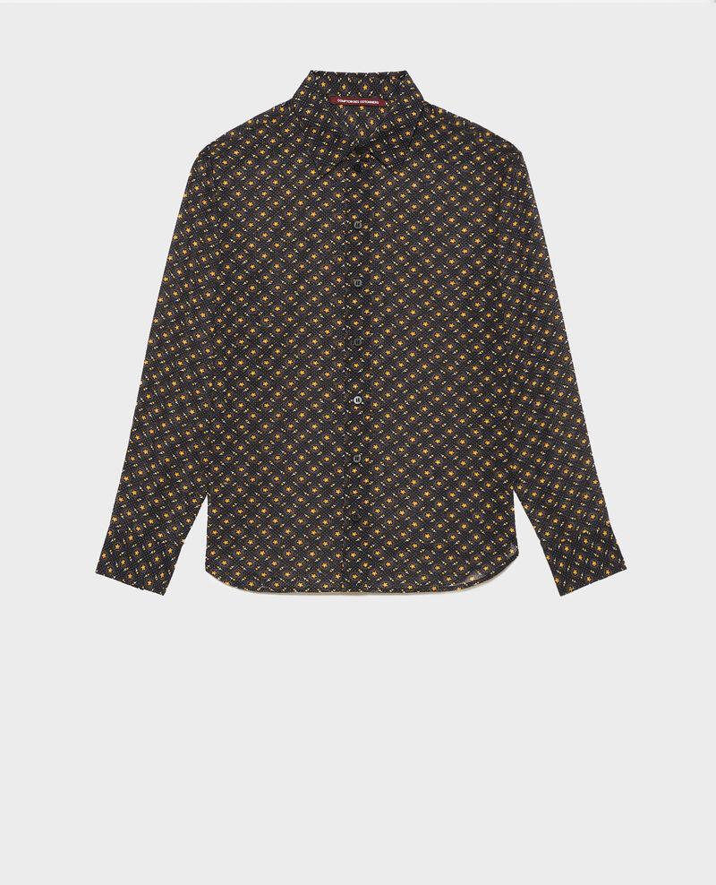 Gemusterte Bluse aus Baumwolle Daisy old gold Nandes