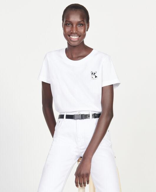 Léon T-Shirt aus Baumwolle OPTICAL WHITE