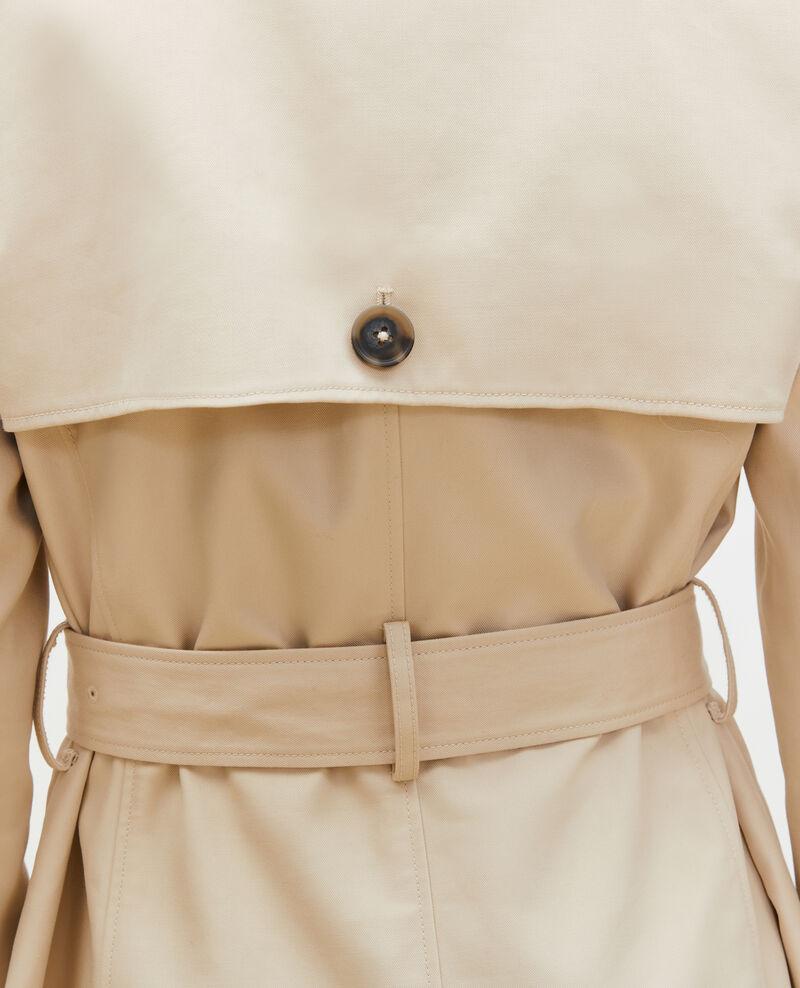 Mittellanger Trenchcoat aus Baumwolle mit Gürtel Smoke gray Mambert