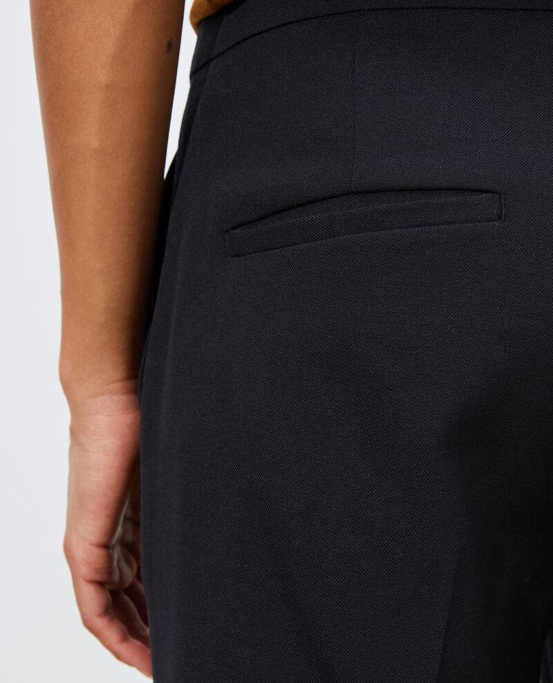 Hose MARGUERITE, 7/8-Zigarettenhose aus Wolle Black beauty Moko