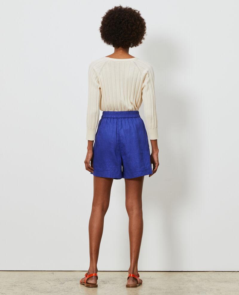 Kurze Shorts aus Leinen Royal blue Navillien