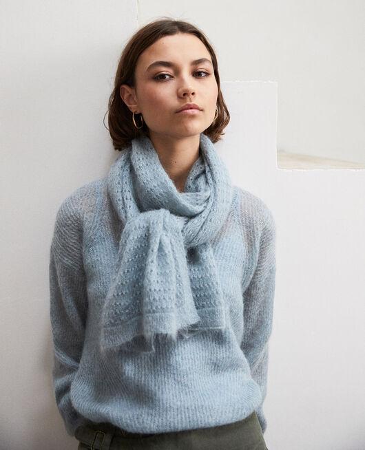 Schal aus Zierstrick BLUE MIRAGE