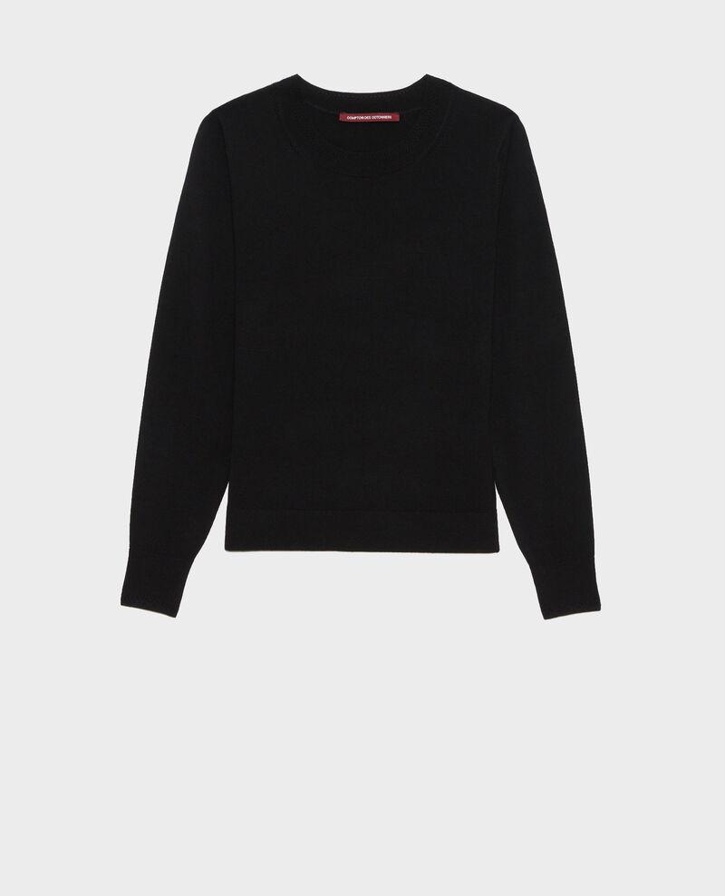 Pullover mit Rundhalsausschnitt aus Wolle Black beauty Passy