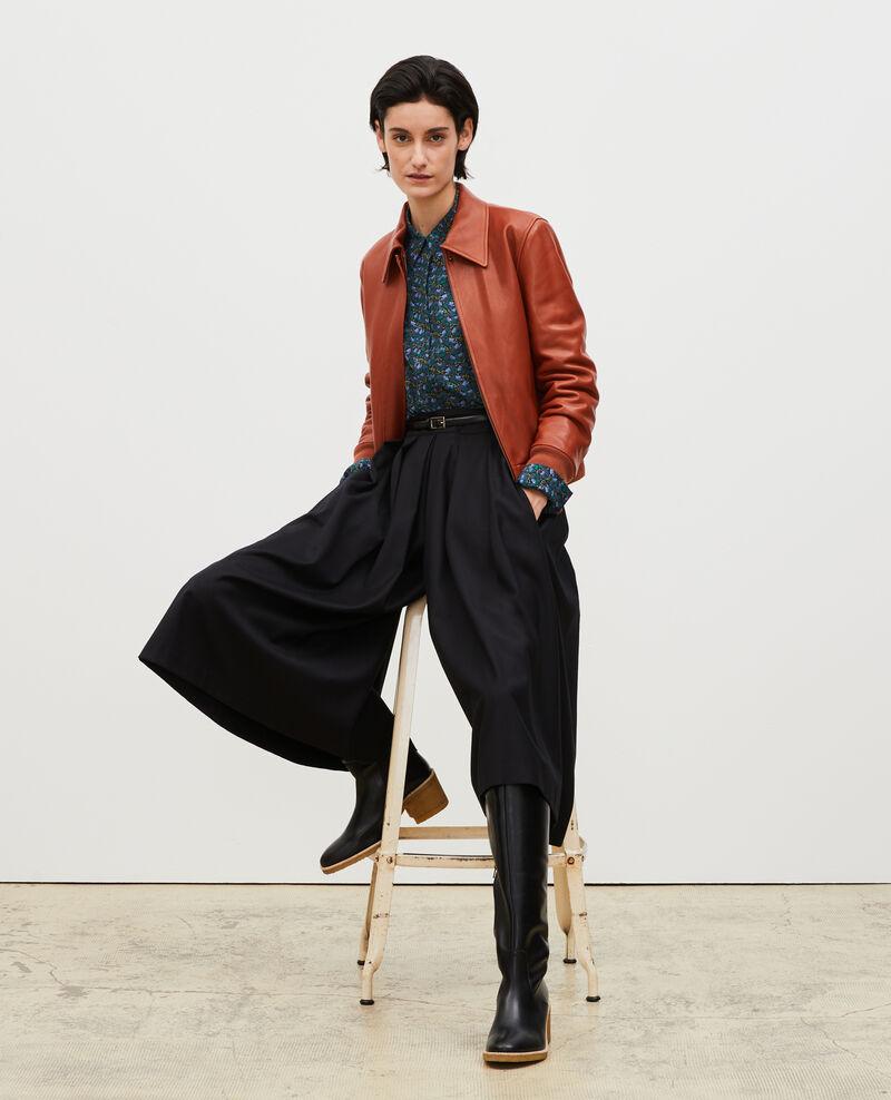 Hosenrock mit Falten aus Wolle und Kaschmir Black beauty Marby