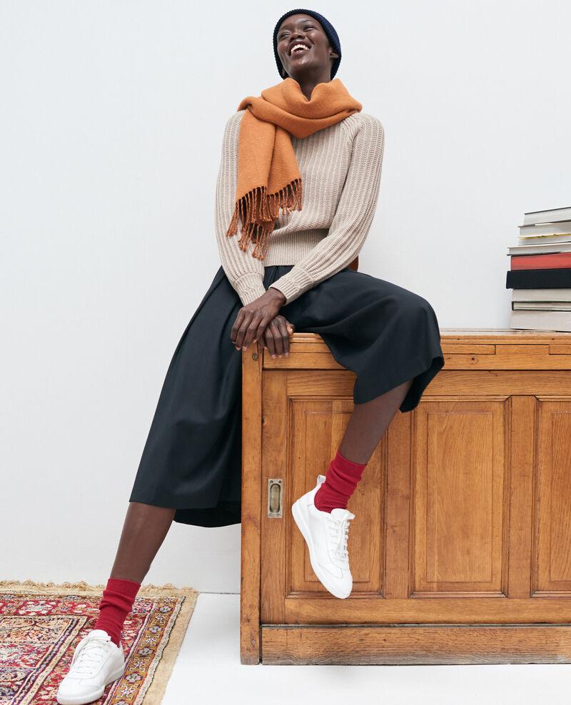 BABETH - Hosenrock mit Falten aus Wolle und Kaschmir Black beauty Marby