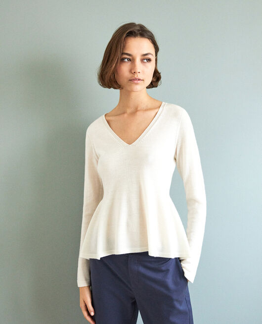 Pullover aus Wolle BLANC