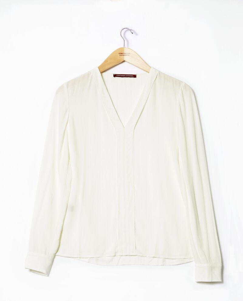 Bluse mit V-Ausschnitt Weiß 9ganet