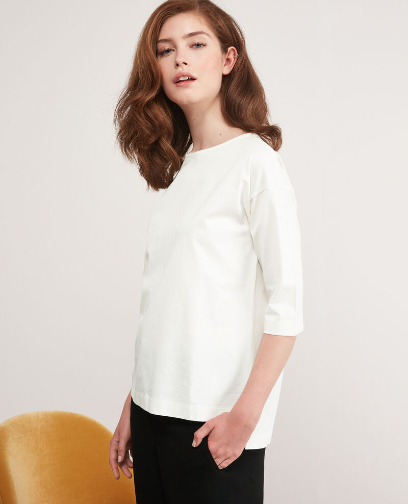 T-Shirt mit halblangen Ärmeln Off white Dimac