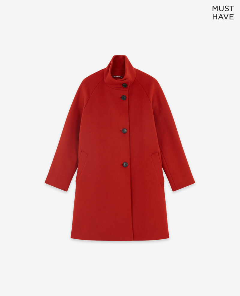 Mantel aus Wolle Rust Dyera