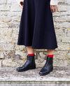 Hohe Stiefeletten aus Glattleder Noir Jootsa