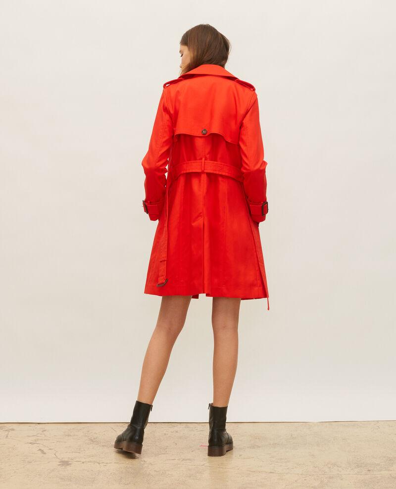 Ikonischer Trenchcoat aus Baumwolle Fiery red Lambert