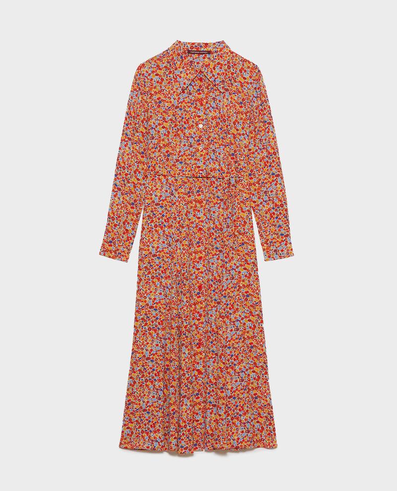 Midi-Hemdkleid mit Musterprint Garden royalblue Narbonnie