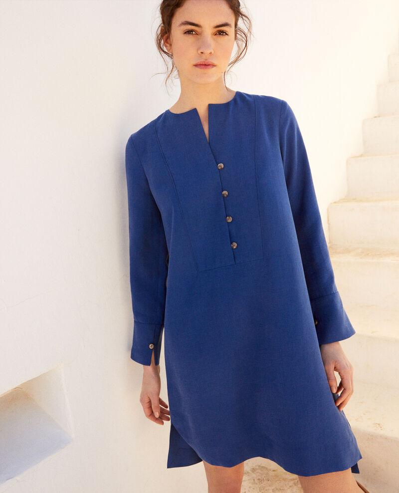 Kleid mit tunesischem Kragen Imperial blue Ioca