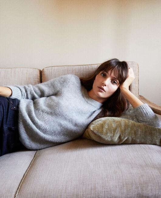 Pullover aus Zierstrick MEDIUM GREY