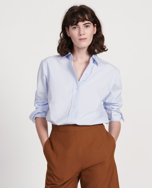 Klassische Bluse aus Popelin HEATHER