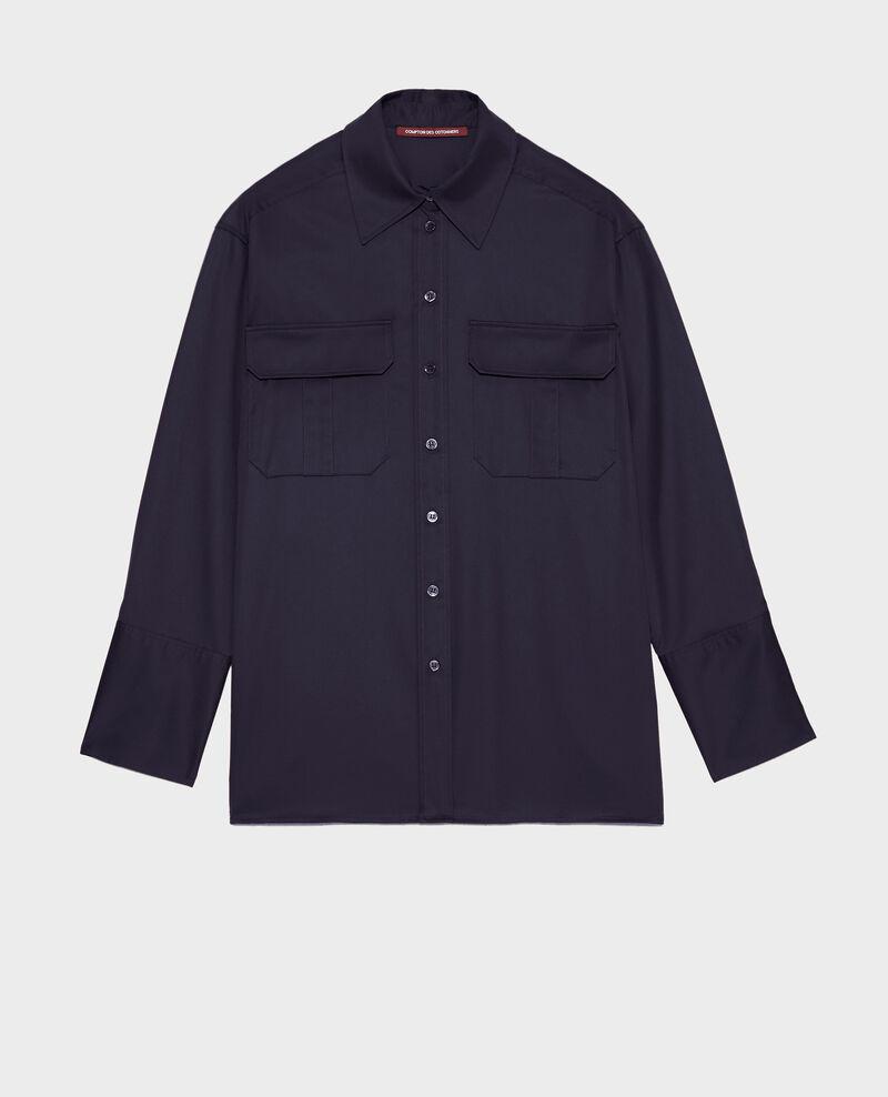 Oversized Herrenhemd aus Baumwolle Night sky Mauryl
