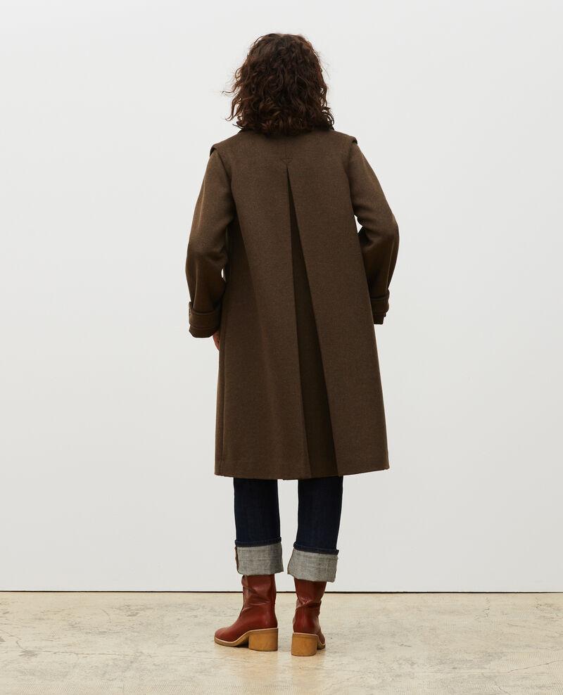 Ausgestellter Mantel aus Wolle und Kaschmir Kaki Madriat