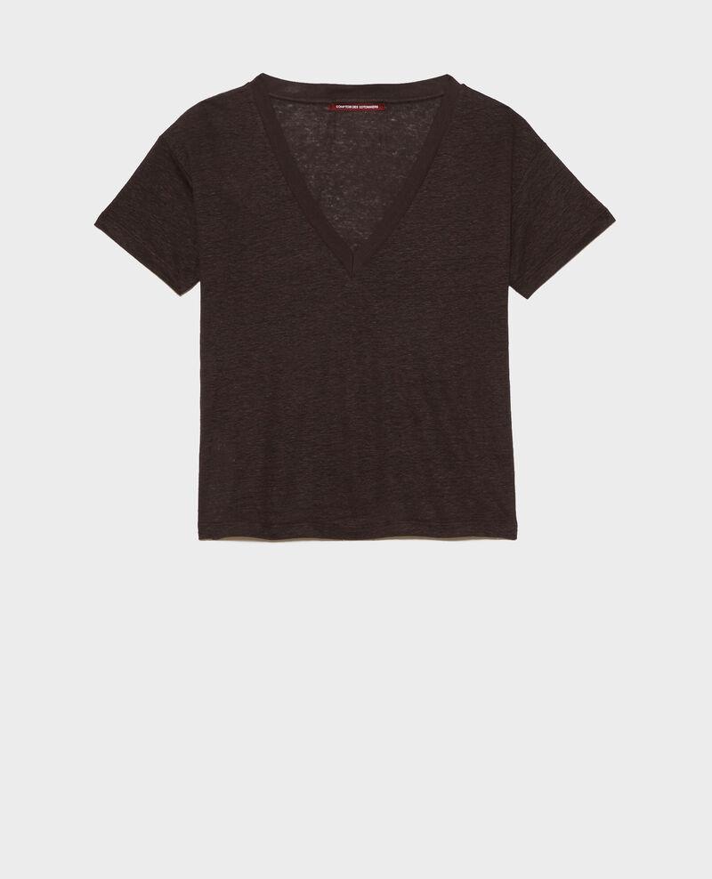 Shirt mit V-Ausschnitt aus Leinen Mole Locmelar