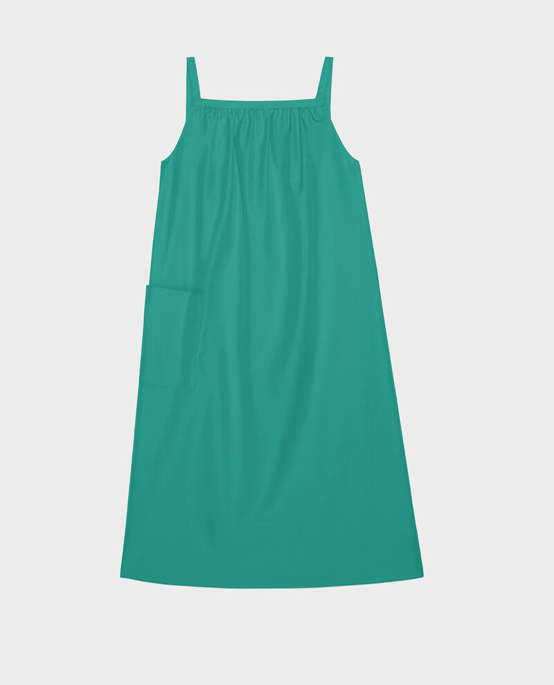 Baumwollkleid Golf green Lisle