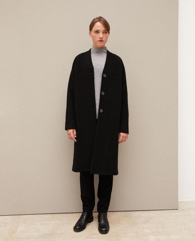 Mantel ohne Kragen Noir Gilhard