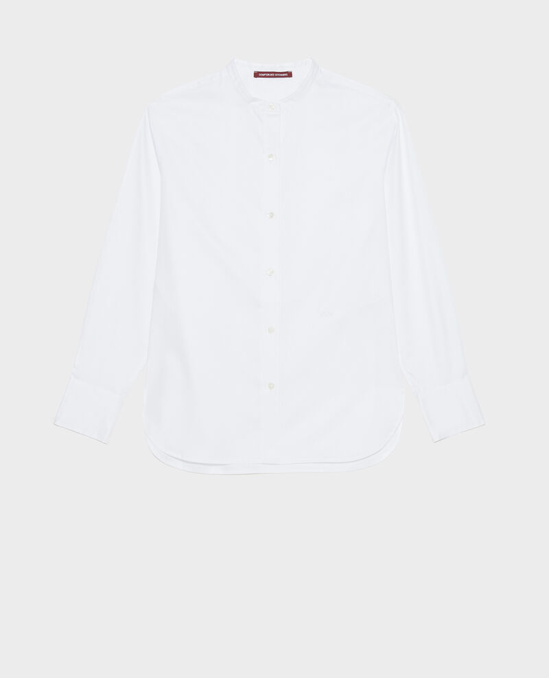 Baumwollbluse mit Rundhalsausschnitt Brilliant white Mannion