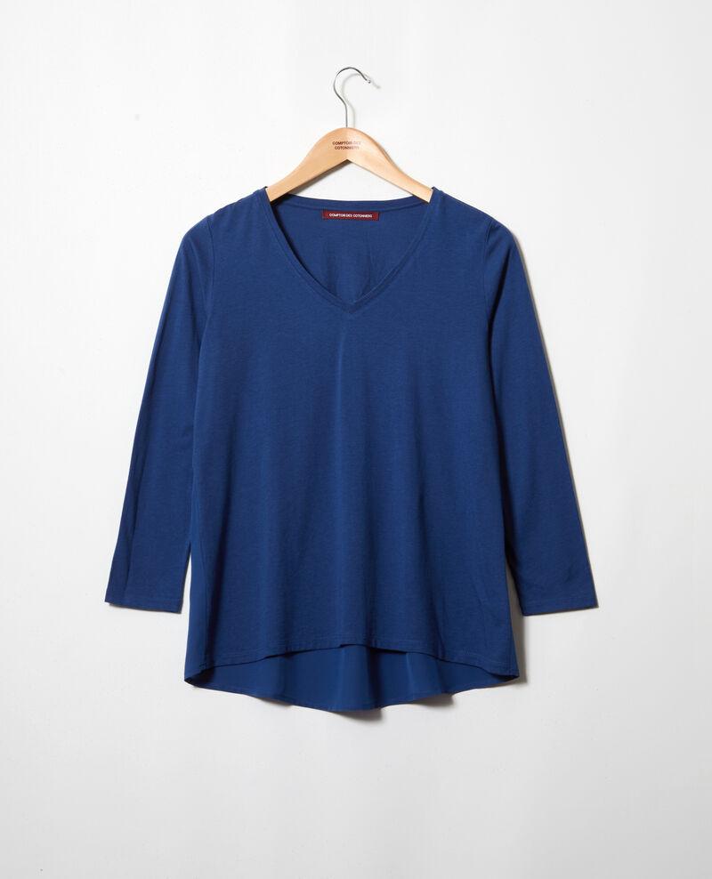 T-Shirt aus Bimaterial Dark indigo Ioko