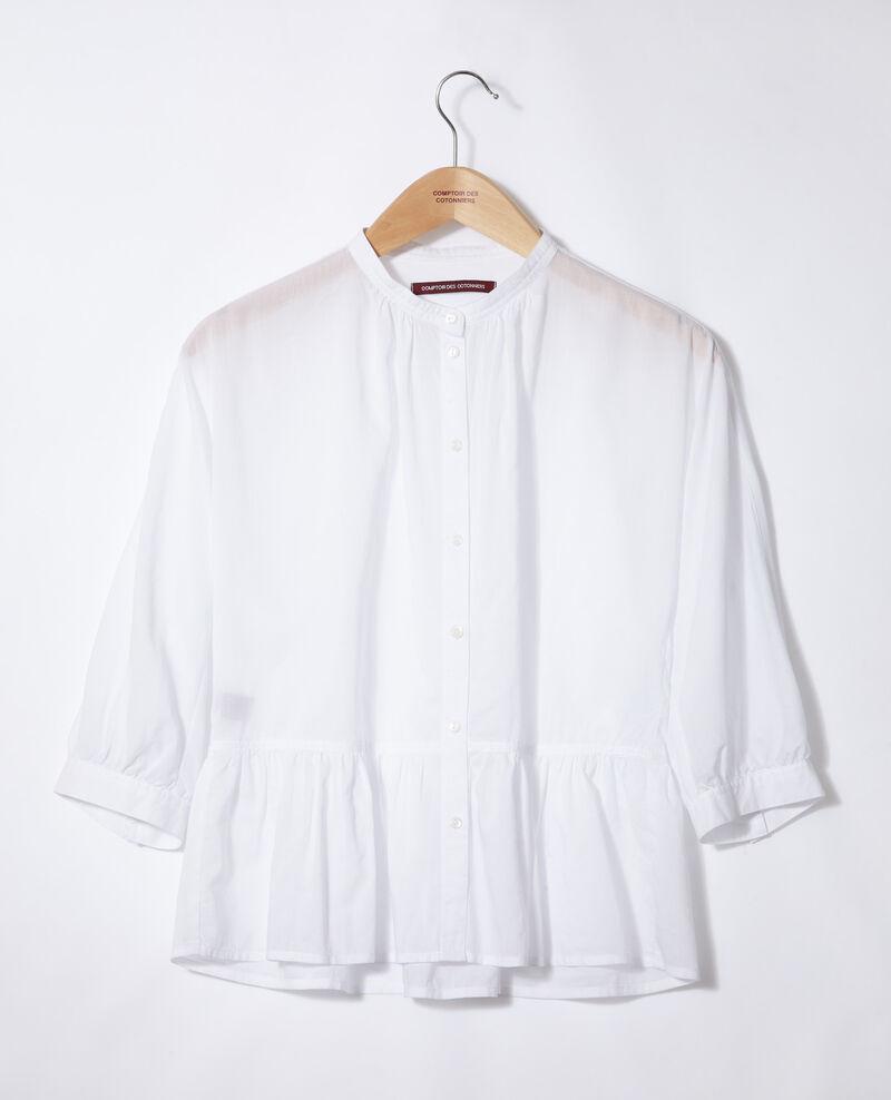 Bluse mit Schößchen Weiß Garniture
