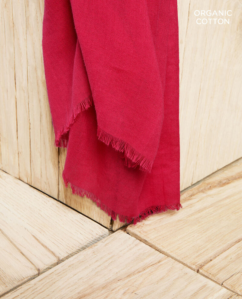 Tuch aus Organic Baumwolle Fushia Geste