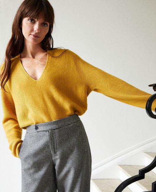 Pullover mit V-Ausschnitt aus 100 % Kaschmir SAUTERNE