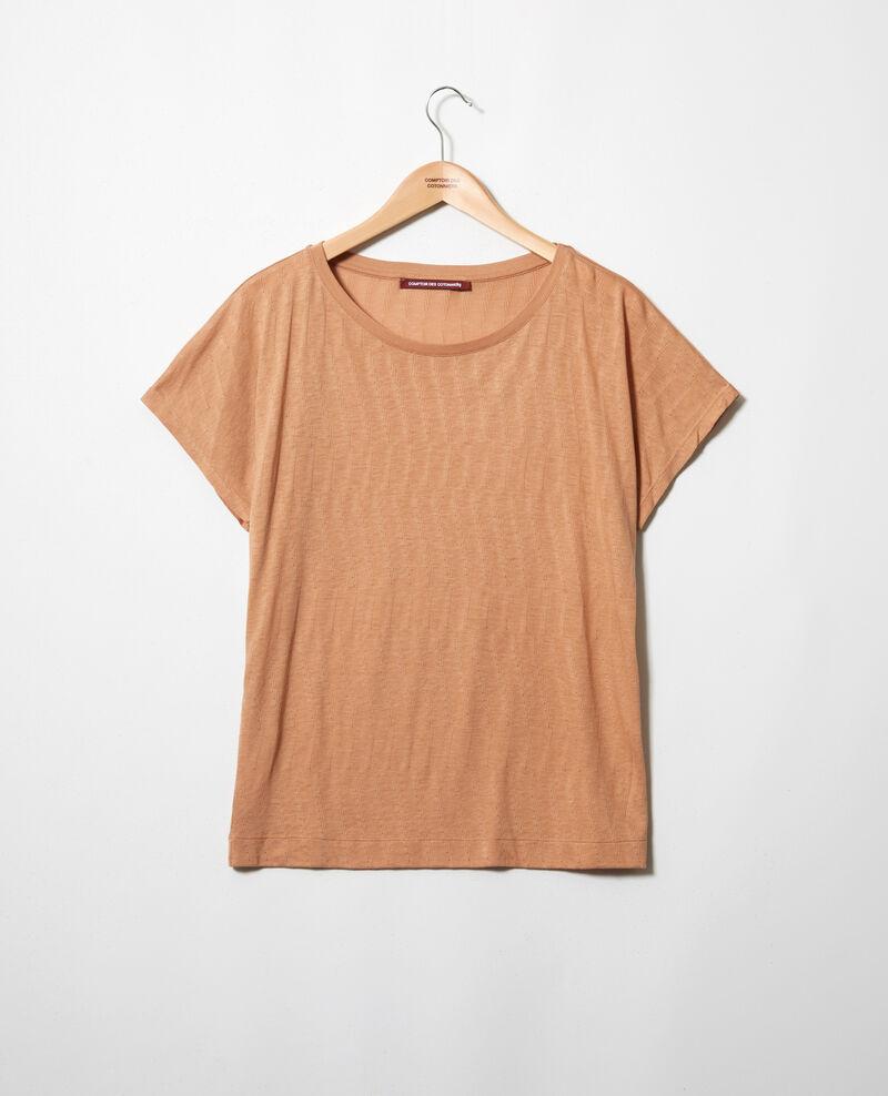 T-Shirt mit weichem Griff Caramel beige Ivoire