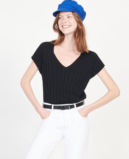 Pullover mit breitem Rippstrick BLACK BEAUTY