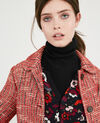 Mantel aus Tweed Orange red Dexception