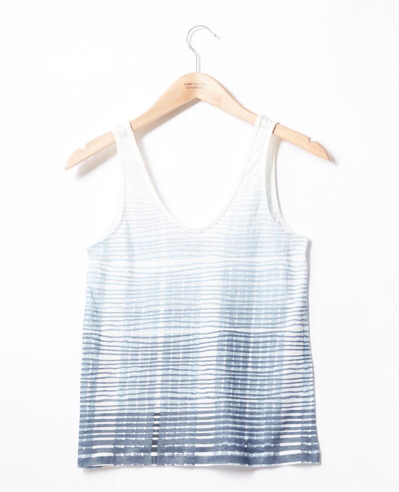 Tanktop aus Leinen Tie&dye washed blue Fagoton