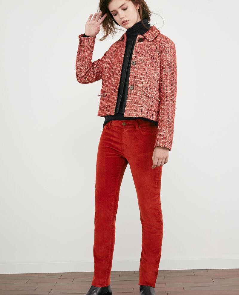 Hose in Zigarettenform mit Velours-Stretch Devil Decharpe