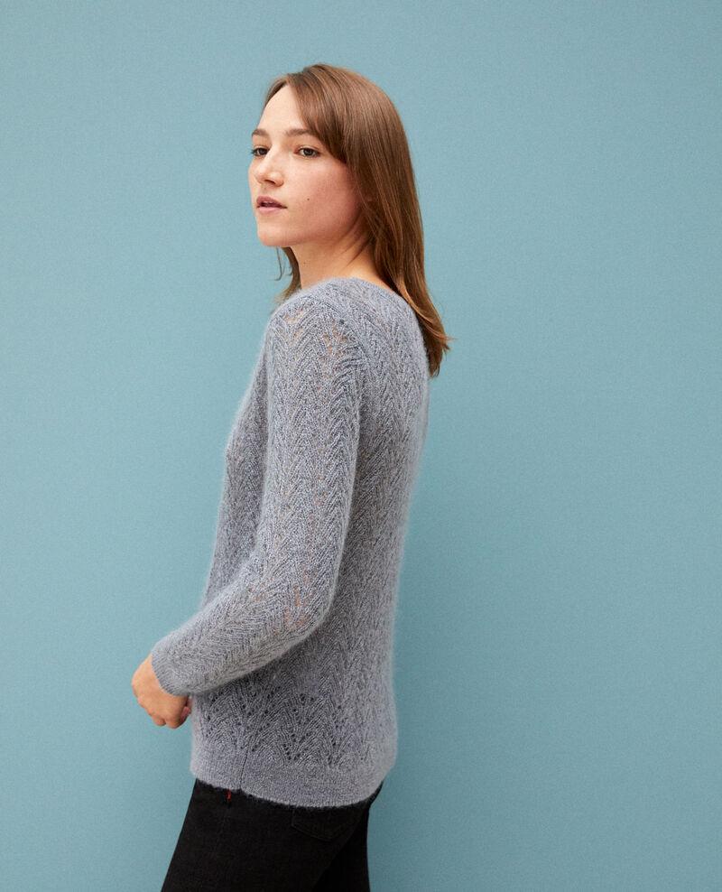 Pullover mit Mohair und Lurex Quiet shade Gigogne