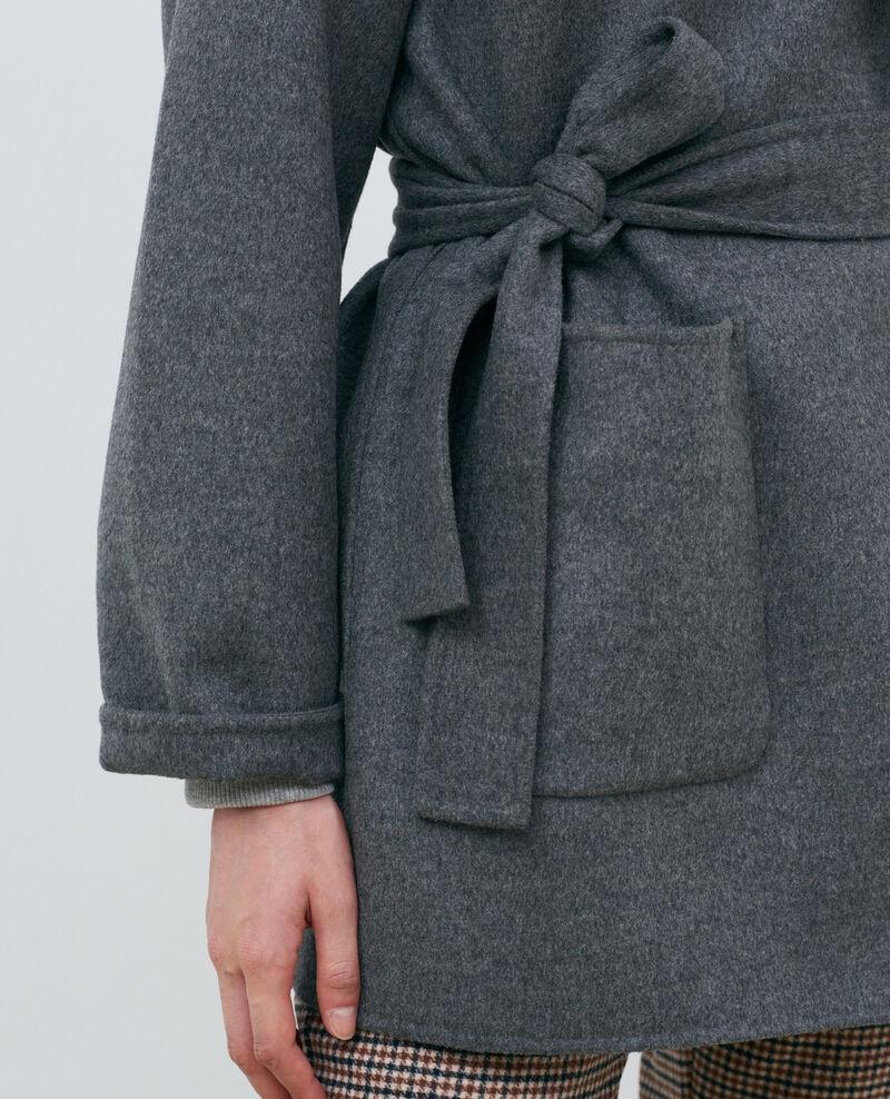 Doppelseitiger Woll- und Kaschmirmante Gris chine Pantin