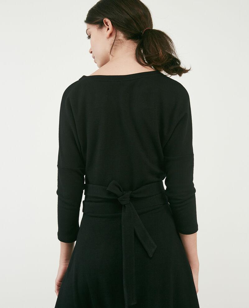 Sweatkleid mit Wolle Noir Devoiler