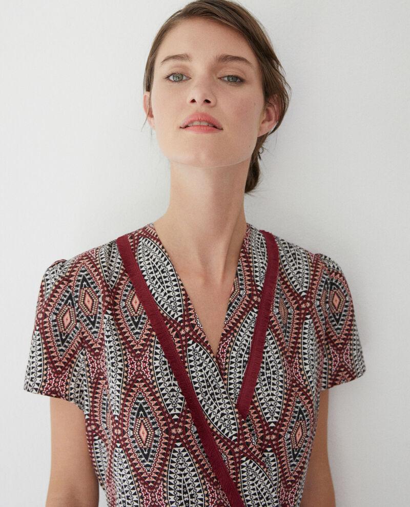 Langes gemustertes Kleid Braun Fhloe