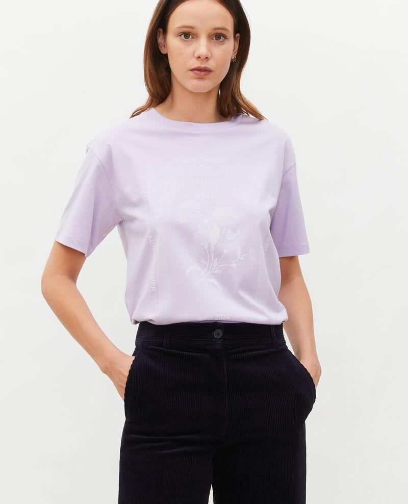T-Shirt aus Baumwolle mit kurzen Ärmeln Pastel lilac Masny