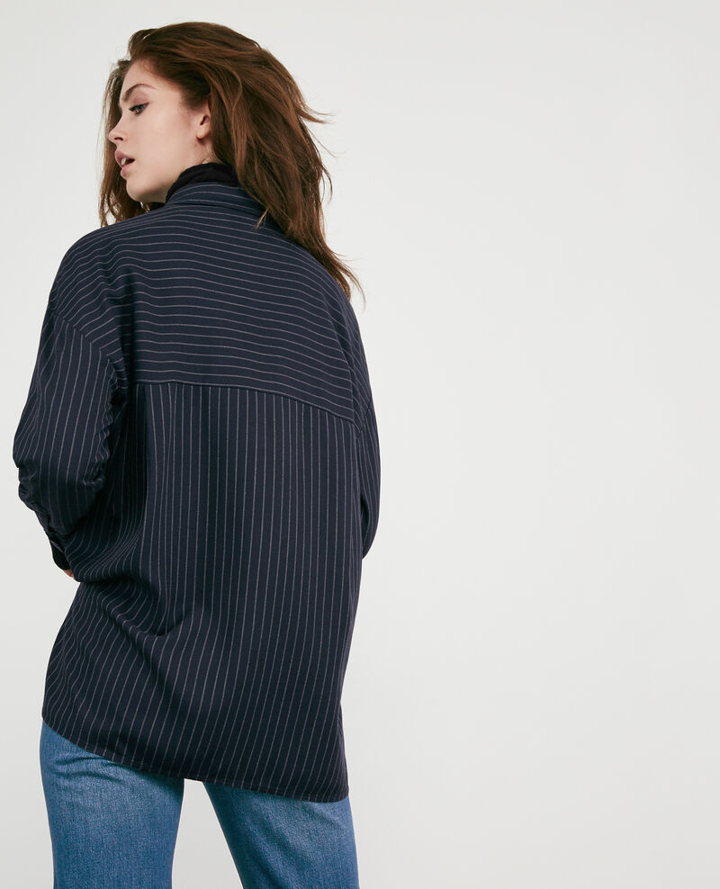 Gestreifte Oversize-Bluse Navy Dagicien