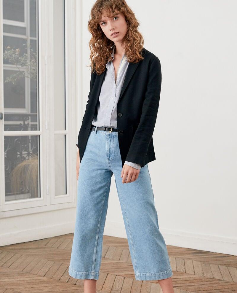 Wide Cropped-Jeans Light indigo Fropigo