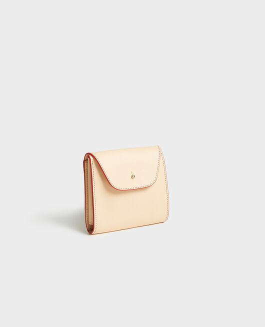 Brieftasche aus Glattleder STRIPES FIERY RED GARDENIA