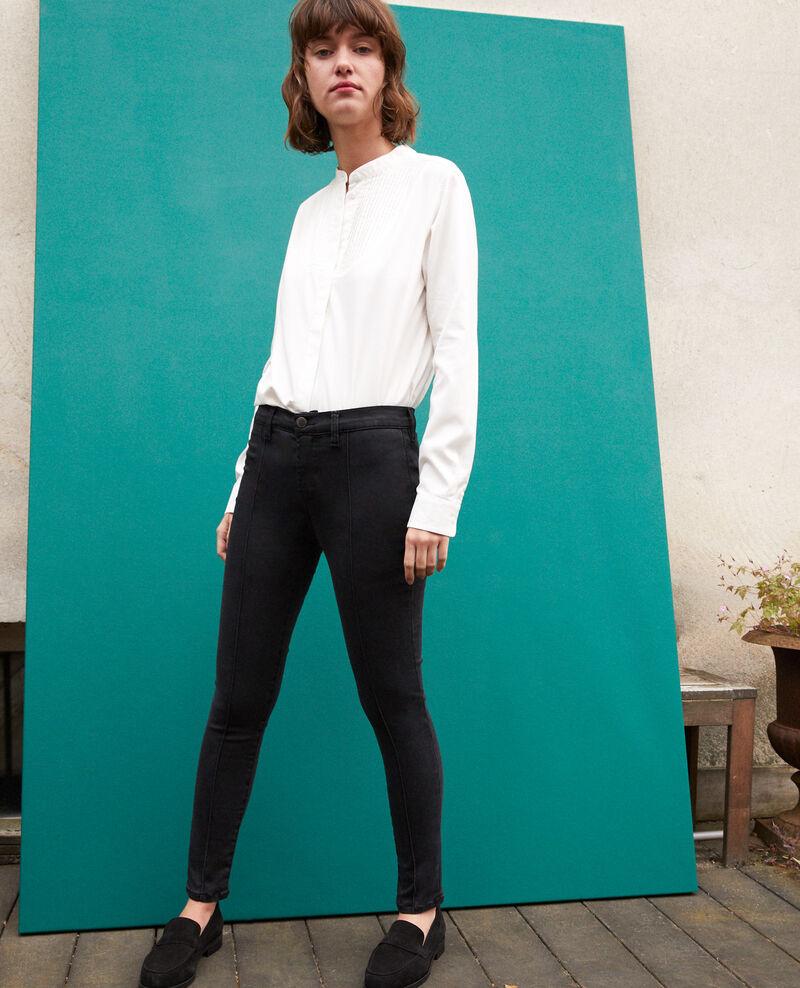 Skinny-Jeans mit 7/8-Cropped-Länge Schwarz Gireg