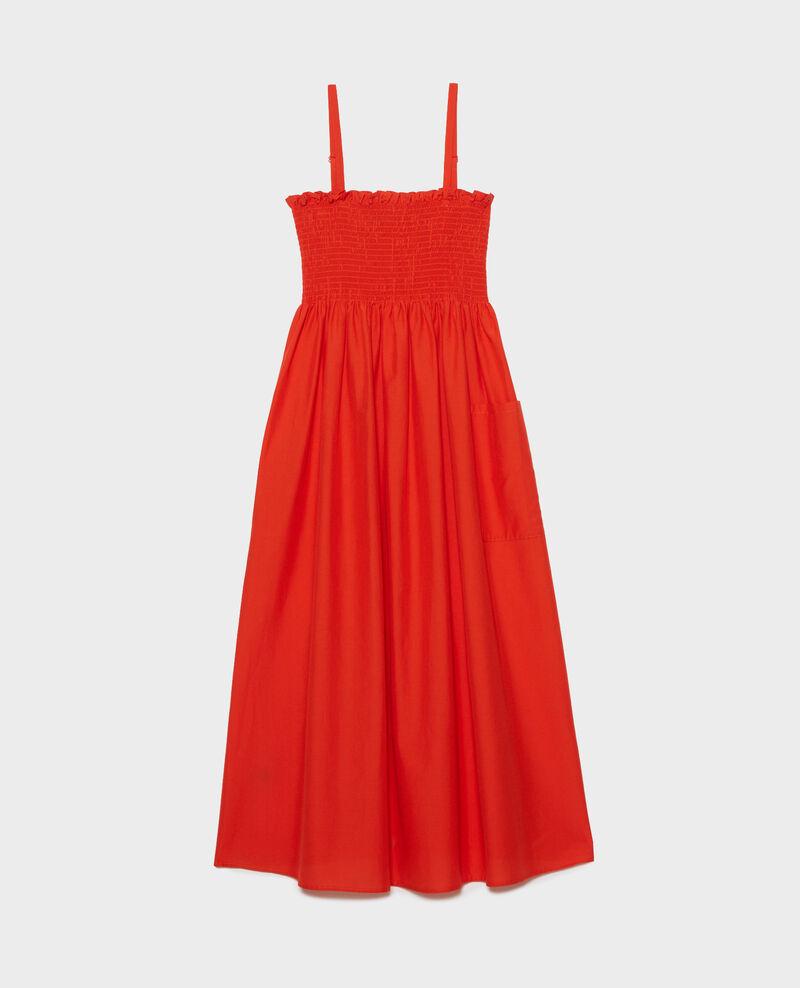 Langes Kleid aus Baumwolle und Seide Pureed pumpkin Nassandrou