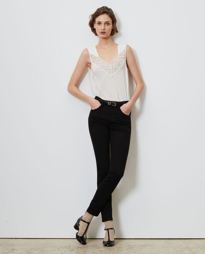 DANI - SKINNY - Jeans 5 Tascchen Black beauty Mozakiny