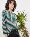 T-Shirt im Marinelook Green/heather grey Ditoc